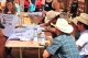 Stormy wing, Douglas Duncan and other riders sign autographs at the shriners kiddie rodeo at the Tour Pro Division PBR in Deadwood SD.  Photo by Josh Homer.  Photo credit must be given on all uses.